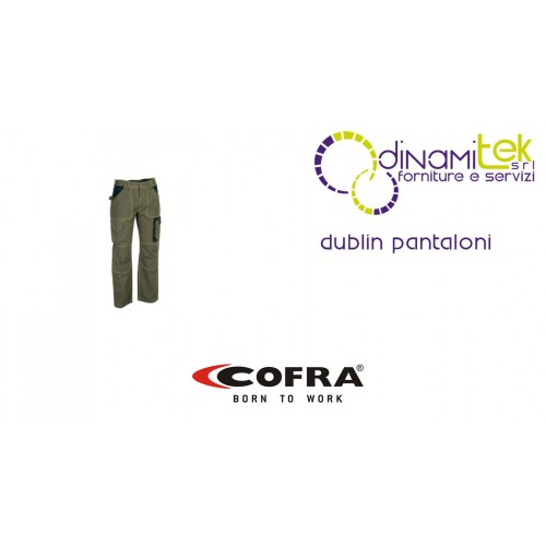 WORK TROUSERS IN DURABLE COTTON CANVAS DUBLIN COFRA Dinamitek 1