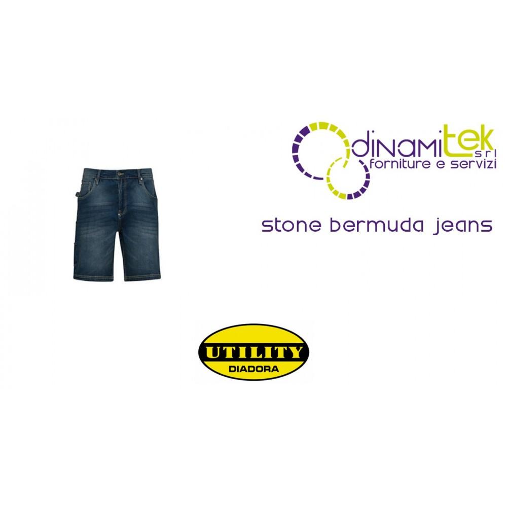 BERMUDA TO WORK JEANS B-STONE DIADORA UTILITY Dinamitek 1
