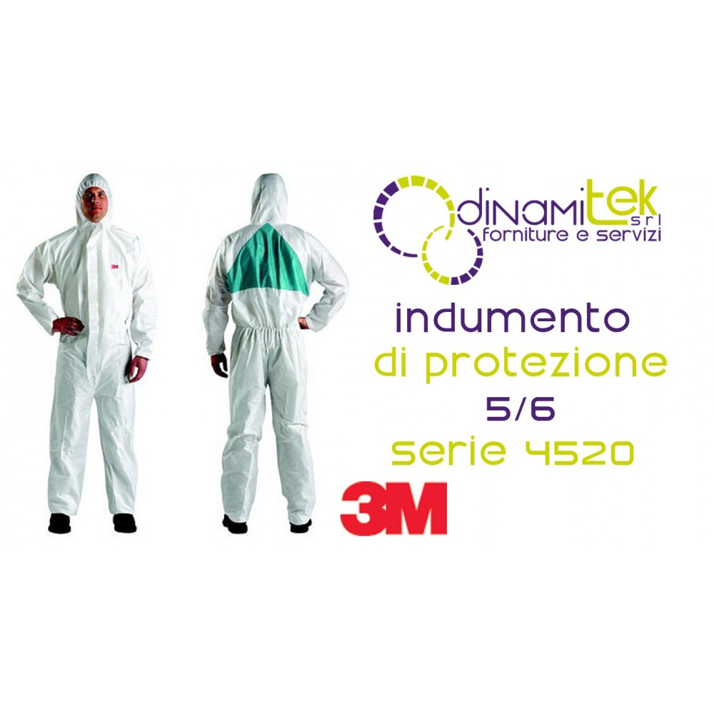 4520 COVERALL PROTECTIVE SMMMS TYPE 5/6 3M Dinamitek 1