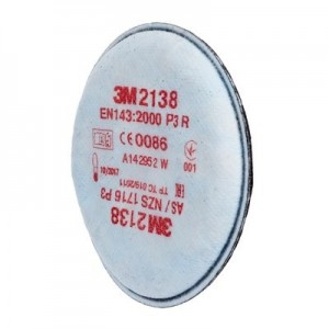 2138 PAIR OF FILTERS P3 FOR DUST, ORGANIC VAPORS AND ACID GASES 3M Dinamitek 2