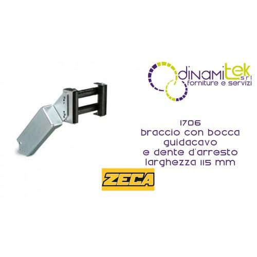 1706 BRACCIO CON BOCCA GUIDA CAVO E DENTE D'ARRESTO LARGHEZZA 115 mm ZECA Dinamitek 1