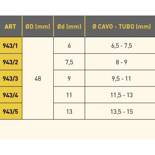 805/13 AVVOLGITUBO PER ARIA E ACQUA FREDDA SERIE 805 ZECA TUBO MT 11 - DIAM INT TUBO 12,5 MM