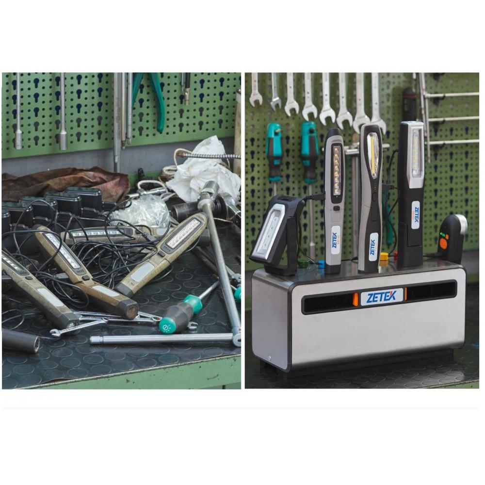 KB900 CHARGING BOX CON PARETI MAGNETICHE IN ACCIAIO INOX E 5 PRESE SCHUKO ZETEK Dinamitek 3