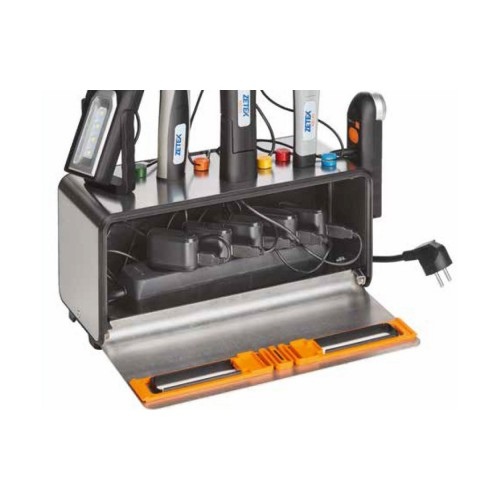 KB900 CHARGING BOX CON PARETI MAGNETICHE IN ACCIAIO INOX E 5 PRESE SCHUKO ZETEK Dinamitek 4
