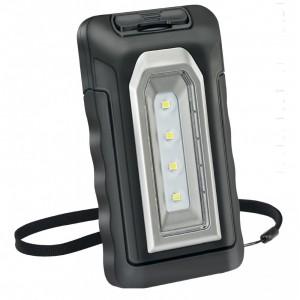 KB220 LAMPADA RICARICABILE TASCABILE CON 4 SMD LED(2W). CON CARICABATTERIE USB 100-240V E 12-24V ZETEK Dinamitek 2