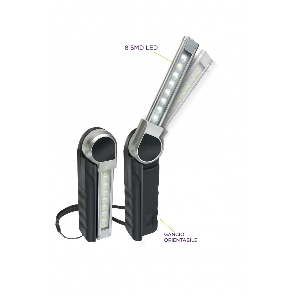 ZETEK KB260 LAMPADA RICARICABILE ULTRASOTTILE 8SMD Dinamitek 2
