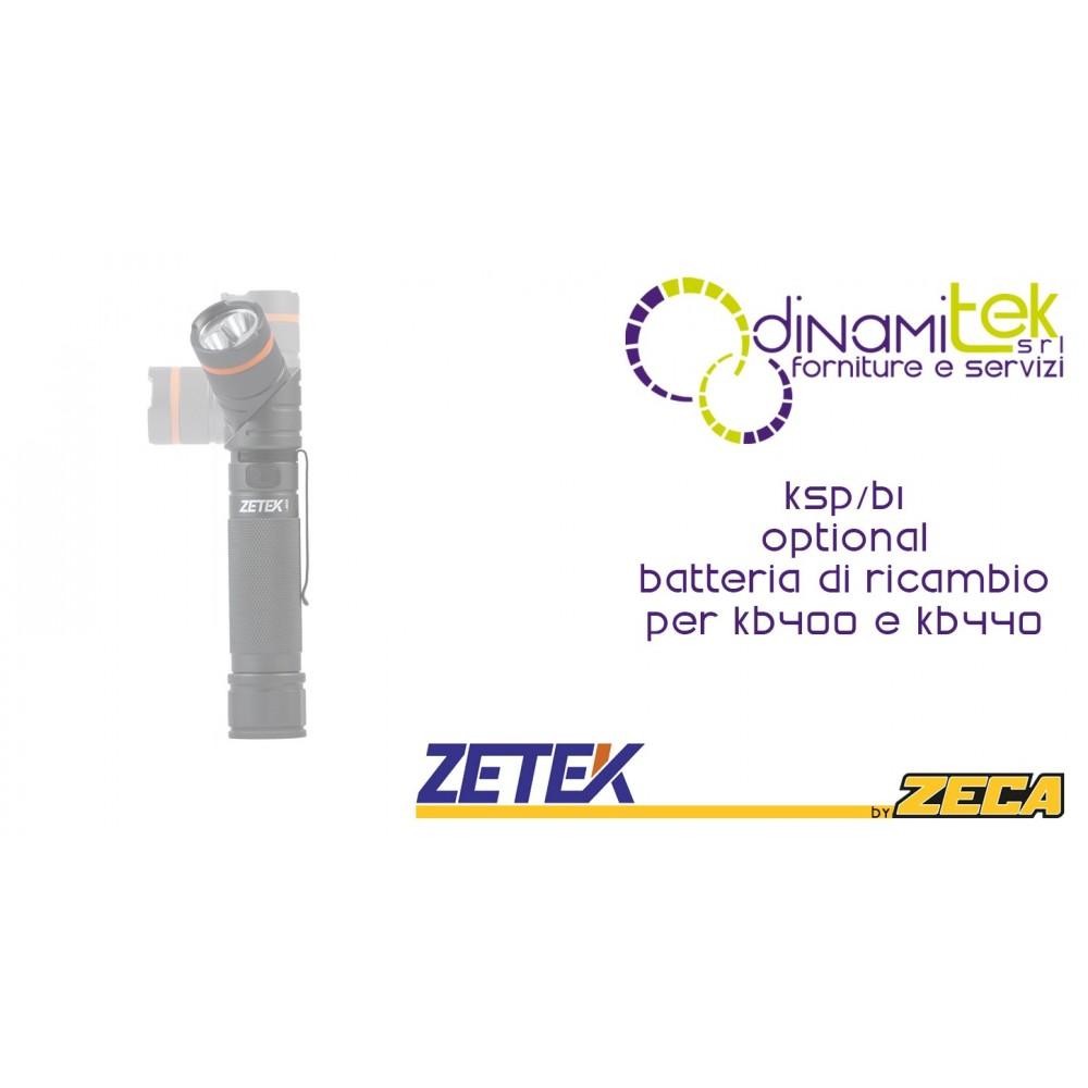 ZETEK KSP-B1 OPTIONAL BATTERIA RICAMBIO KB400-KB440 Dinamitek 1