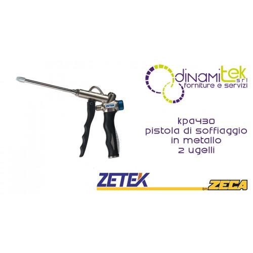 KPA430 PISTOLA DI SOFFIAGGIO IN METALLO 120mm CON 2 UGELLI ZETEK Dinamitek 1