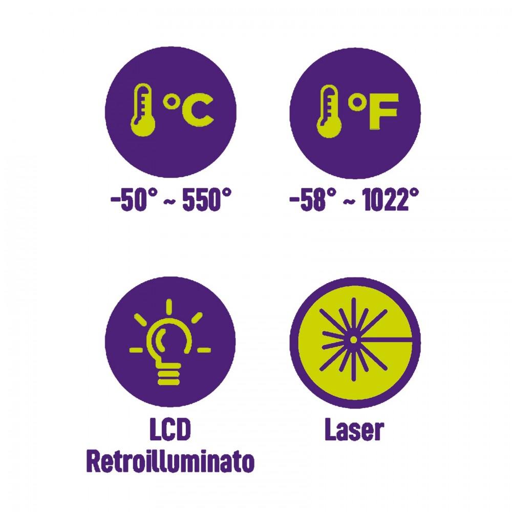 ZETEK KM061 TERMOMETRO INFRAROSSI Dinamitek 3