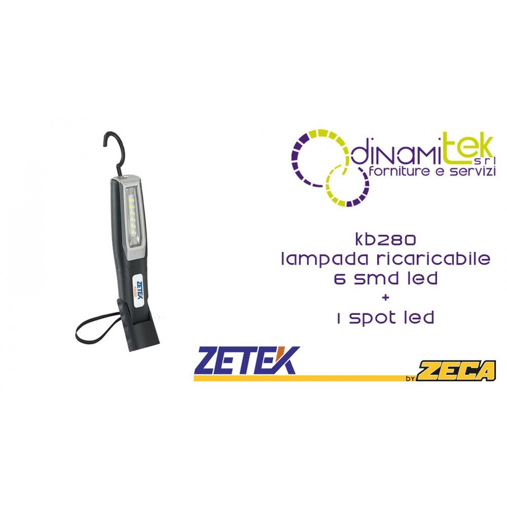 ZETEK KB280 LAMPADA RICARICABILE 6SMD+1 Dinamitek 1