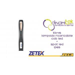 KB145 LAMPADA RICARICABILE IP65 CON COB LED(3W) + 1 W SPOT LED. CON CARICABATTERIE USB 100-240V ZETEK Dinamitek 1