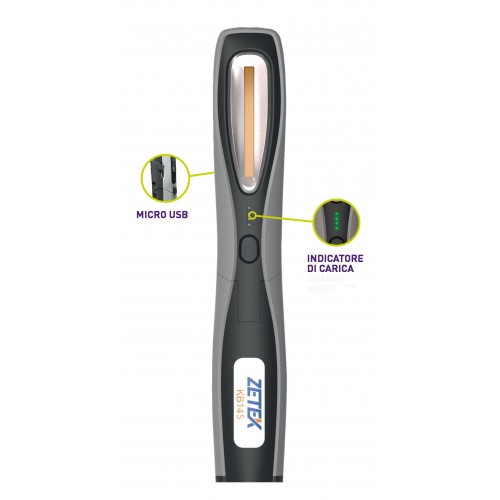 KB145 LAMPADA RICARICABILE IP65 CON COB LED(3W) + 1 W SPOT LED. CON CARICABATTERIE USB 100-240V ZETEK Dinamitek 2