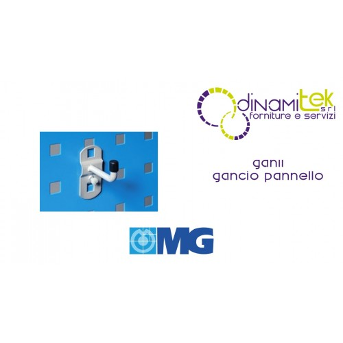 GAN11 GANCIO PER PANNELLO FORO QUADRO mm 35 MG Dinamitek 1