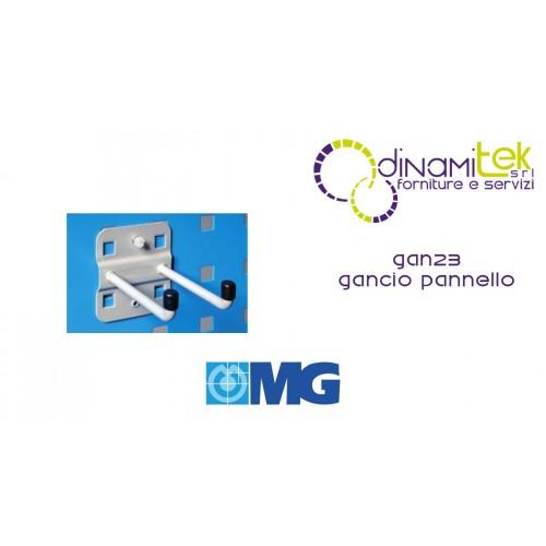 GAN23 GANCIO DOPPIO PER PANNELLO FORO QUADRO mm 75 MG Dinamitek 1