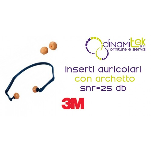1310 ARCHES REUSABLE EAR-PLUGS 3M Dinamitek 1