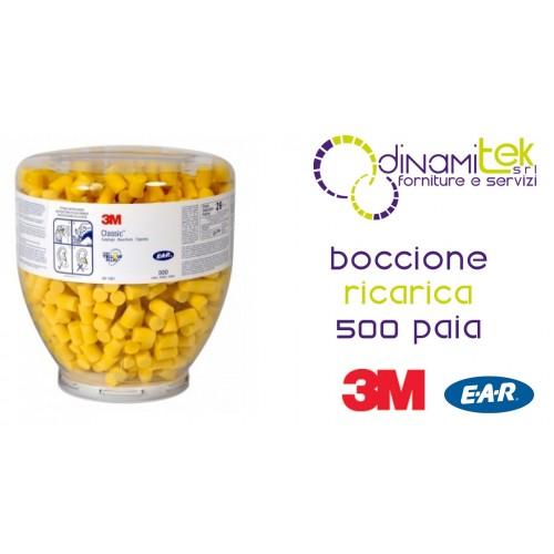 EAR CLASSIC BOCCIONE DA RICARICA 500 COPPIE 3M PD-01-001 Dinamitek 1
